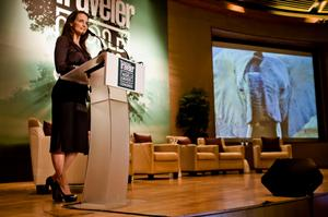 Kristin Davis 2011-10-20 Keynote speaker Condé Nast Traveler World Savers Congress 2011 in Singapore (1x)
